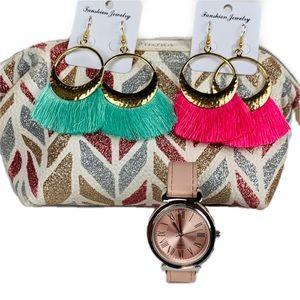 Sephora Sparkle & Shine Cosmetic Bag & Accessories